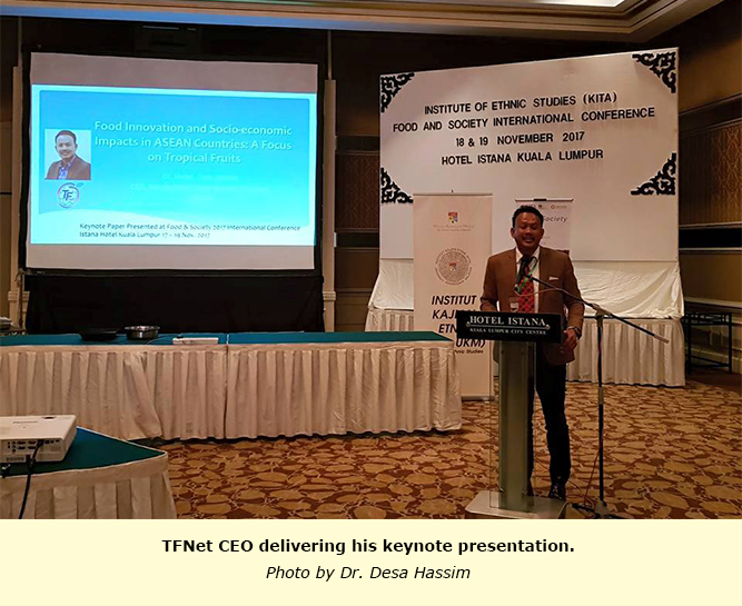 TFNet CEO presents keynote paper during the Food and Society